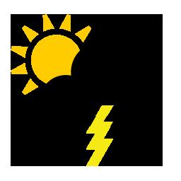 Foyers orageux à proximité