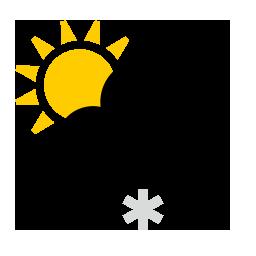 Chûtes de neige modérées partiellement